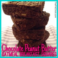 Chocolate Peanut Butter Oatmeal Breakfast Squares