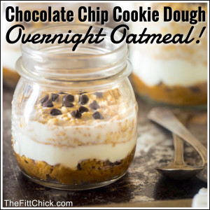 Cookie Dough Overnight Oatmeal