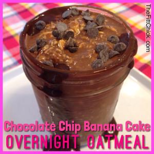 Chocolate Chip Banana Cake Overnight Oats