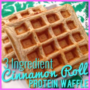 Cinnamon Roll Protein WAffle