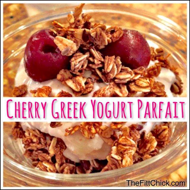 Cherry Greek Yogurt Parfait