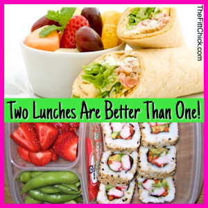 2 lunches are better than one!