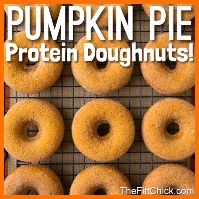 Pumpkin Pie Protein Doughnuts
