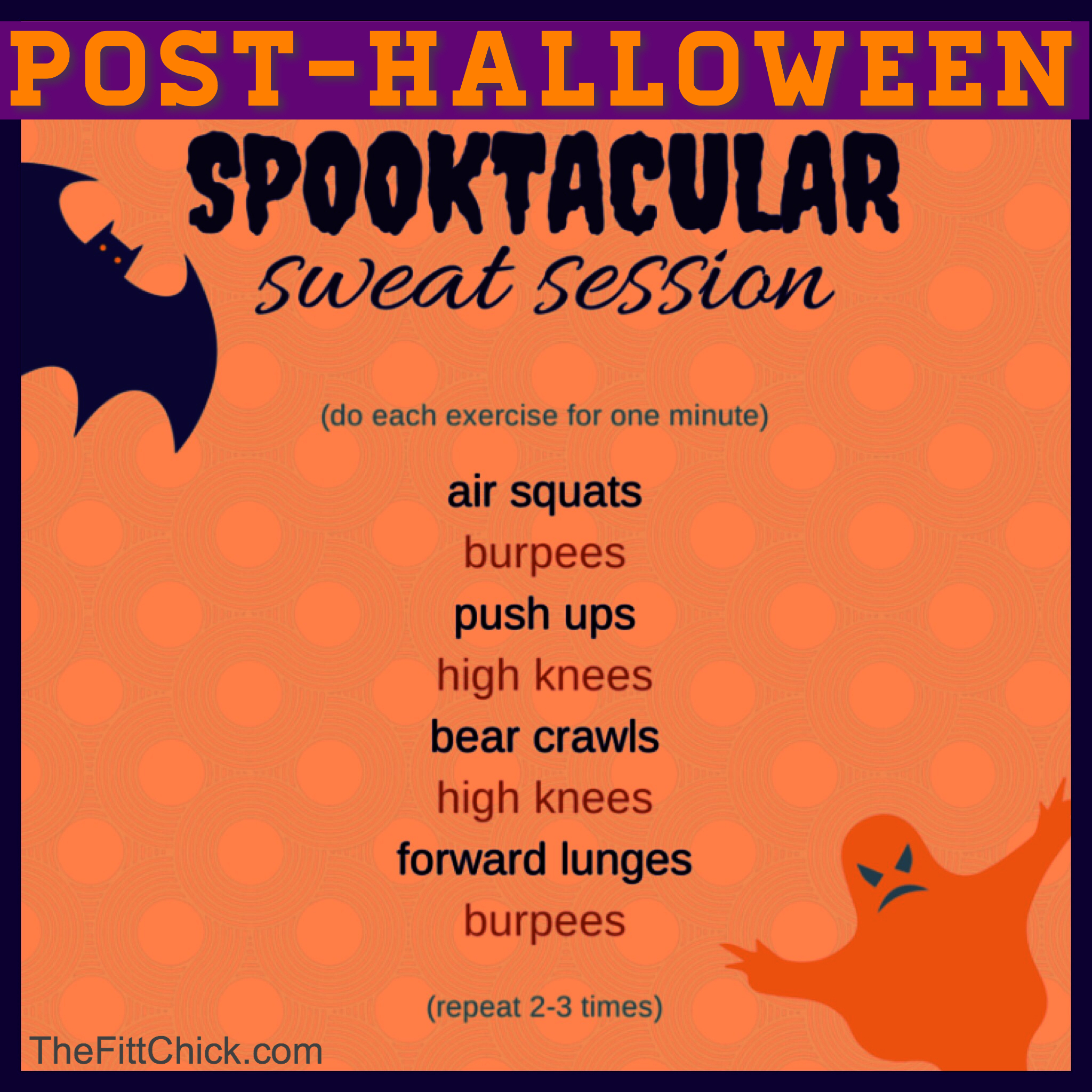 Your Post Halloween Hiit Workout Thefittchick