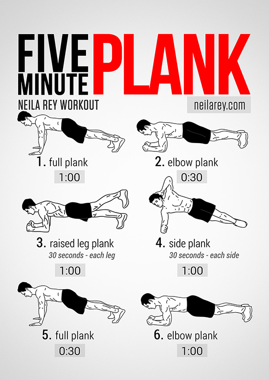 5 Minute Plank Workout!