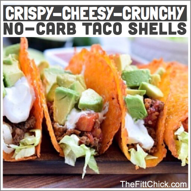TheFittChick Crispy Cheesy Taco shells