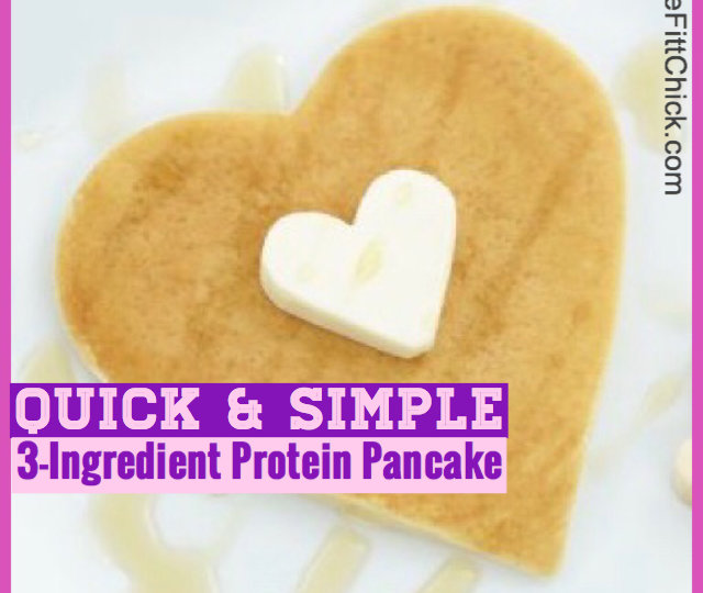 3-Ingredient Heart Shaped Protein Pancake